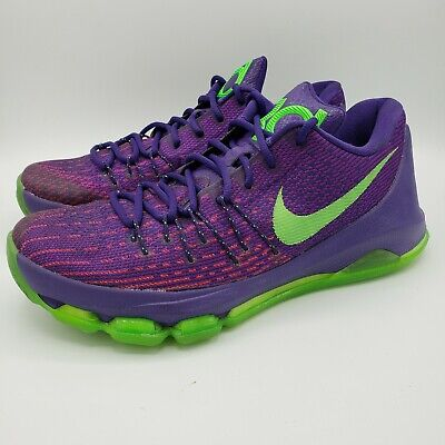Nike KD 8 Kevin Durant Suit Basketball Shoes Mens Size 9 Purple Model 749375-535