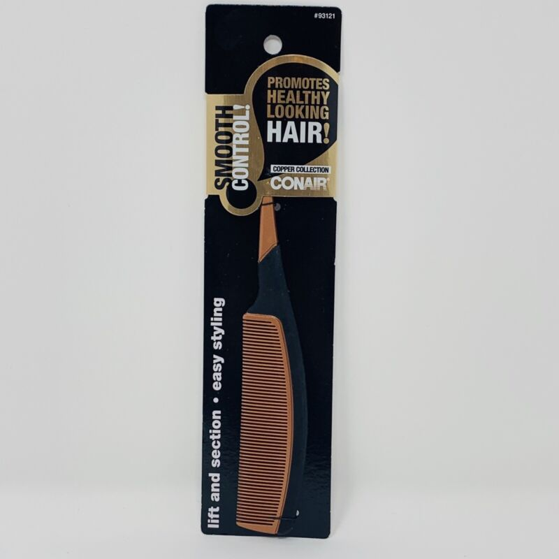 Conair Smooth Control Copper Collection Hair Comb Easy Styling Lift and Section