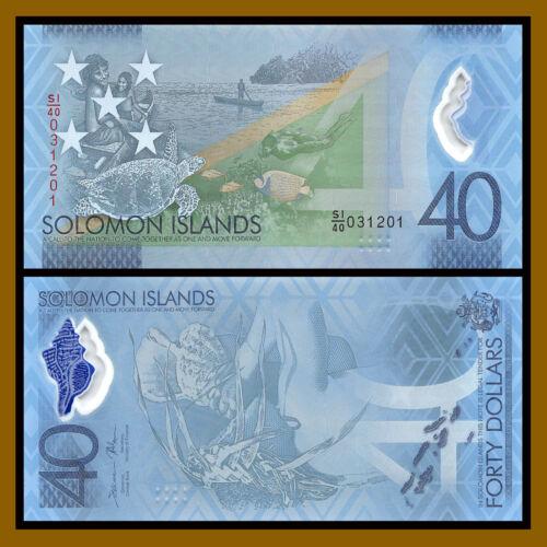 Solomon Islands 40 Dollars, 2018 P-37 New 40 Years Commemorative Polymer Unc