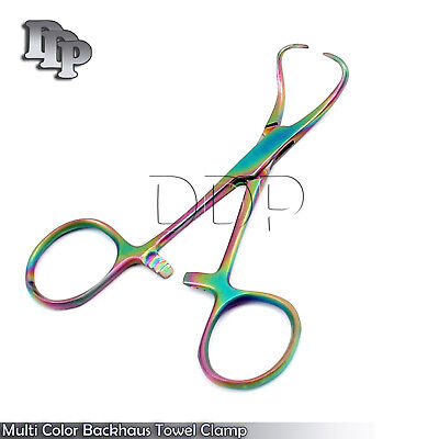 Multi Color Backhaus Towel Clamp 3.5 Surgical Instruments