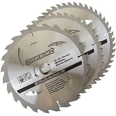 3 Circular Mitre Chop Saw Blades 235mm Diameter 30mm Bore 25