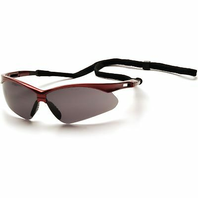 Pyramex Pmxtreme Safety Glasses With Smoke Lens Red Frame