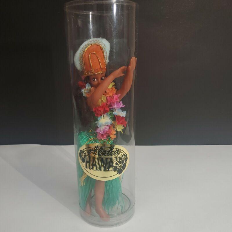 "9"" HULA DANCER Doll - Aloha from Hawaii vintage Souvenir in tube"