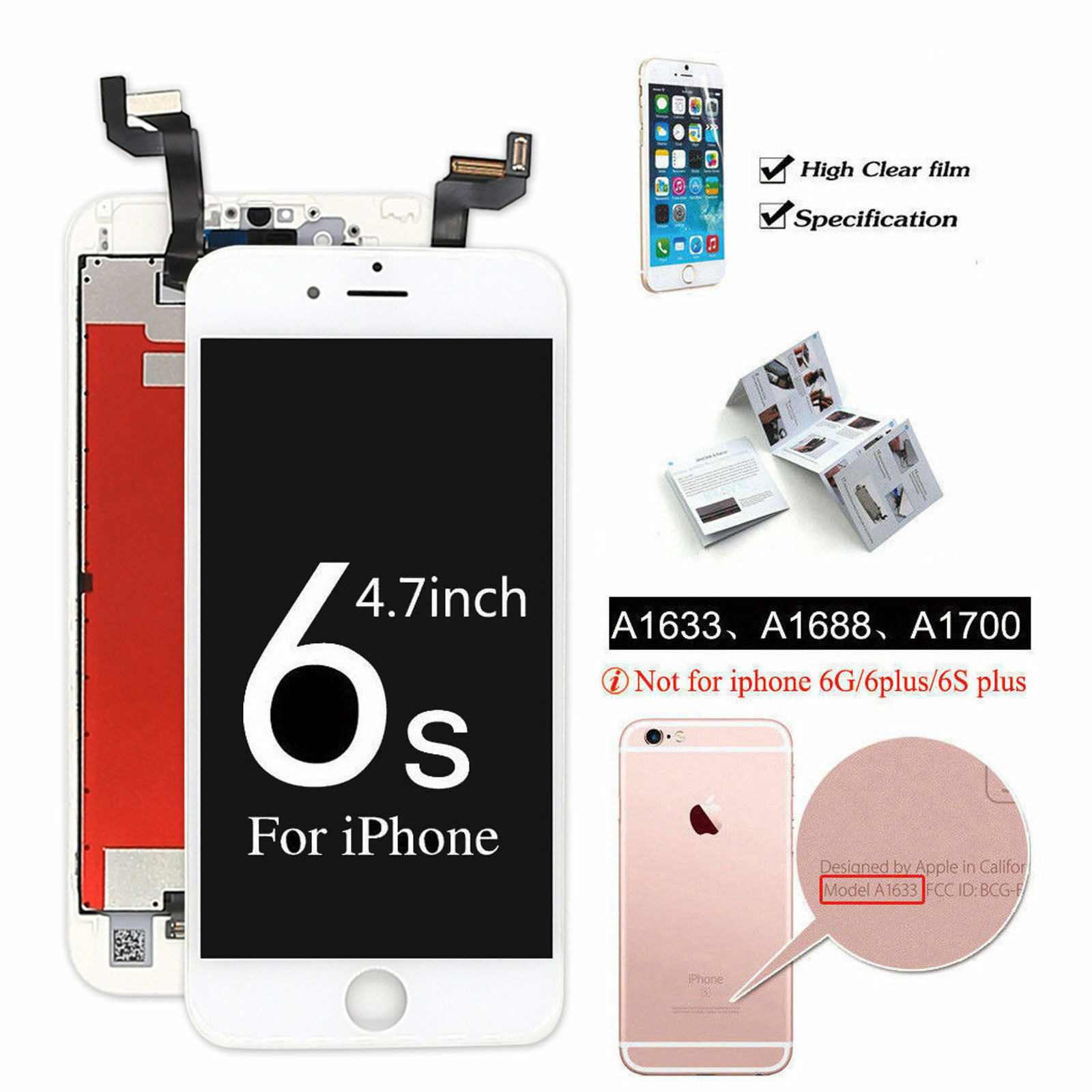 New iPhone 6 6S 6s Plus Complete Lcd Digitizer Touch Screen Replacement Assembly