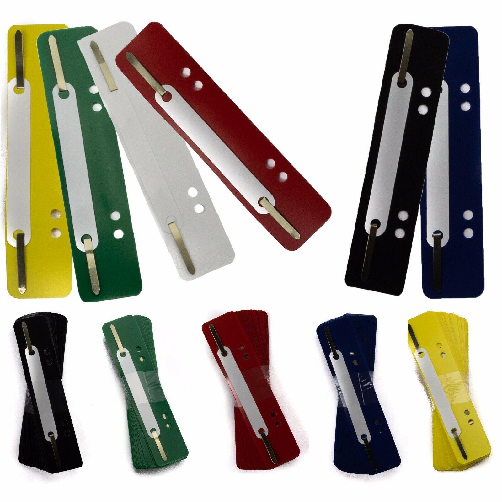 5 25 50 Heftstreifen Abheftstreifen Heftlaschen 34x 150mm - freie Farbauswahl