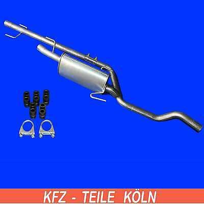 Vauxhall - Meriva - 1.7 CDTI - EXHAUST PIPE+MUFFLER EXHAUST+Assembly Kit