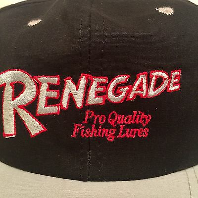RENEGADE Fishing Lures Snapback Hat Pro Quality Embroidered Cap Black