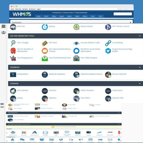 WHMCS-8 with Web-Hosting  1Year with cPanel-SSL Free Installation