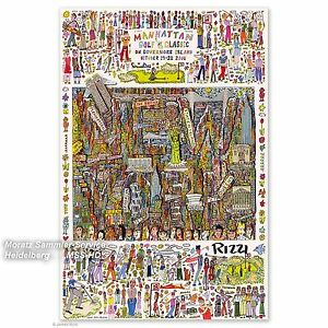 James Rizzi: POSTER Golf Classic (NY State of Mind) handsigniert NEU, inkl.Porto