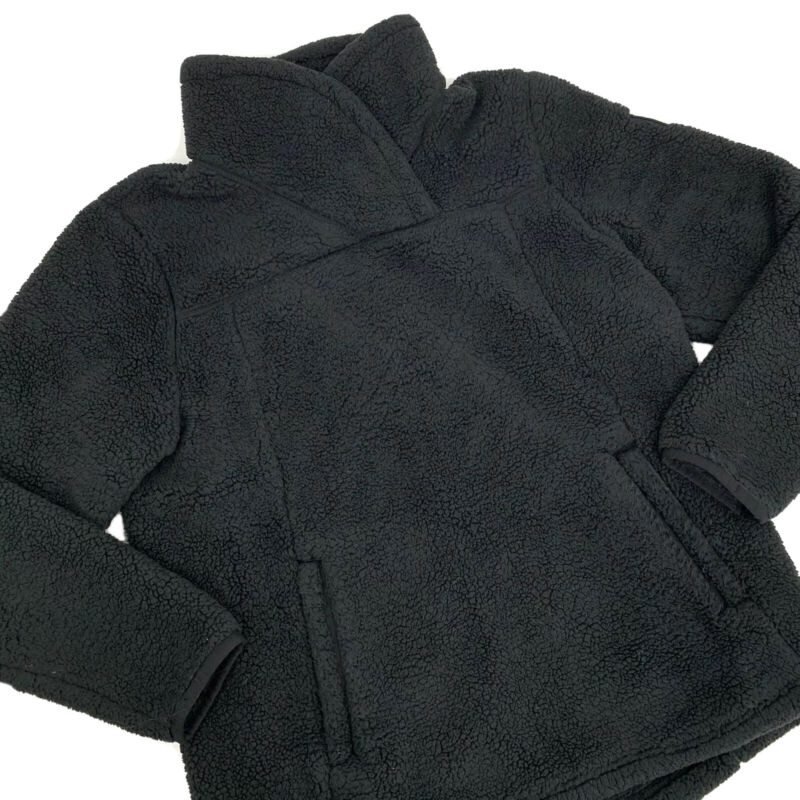 The North Face Girls Fleece Jacket Size XL Black Collared Pockets Hiking Outdoor