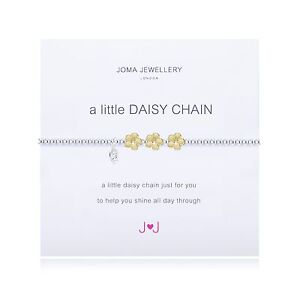 Joma Jewellery A Little DAISY CHAIN Silver Plated Beaded Bracelet + Gift Bag