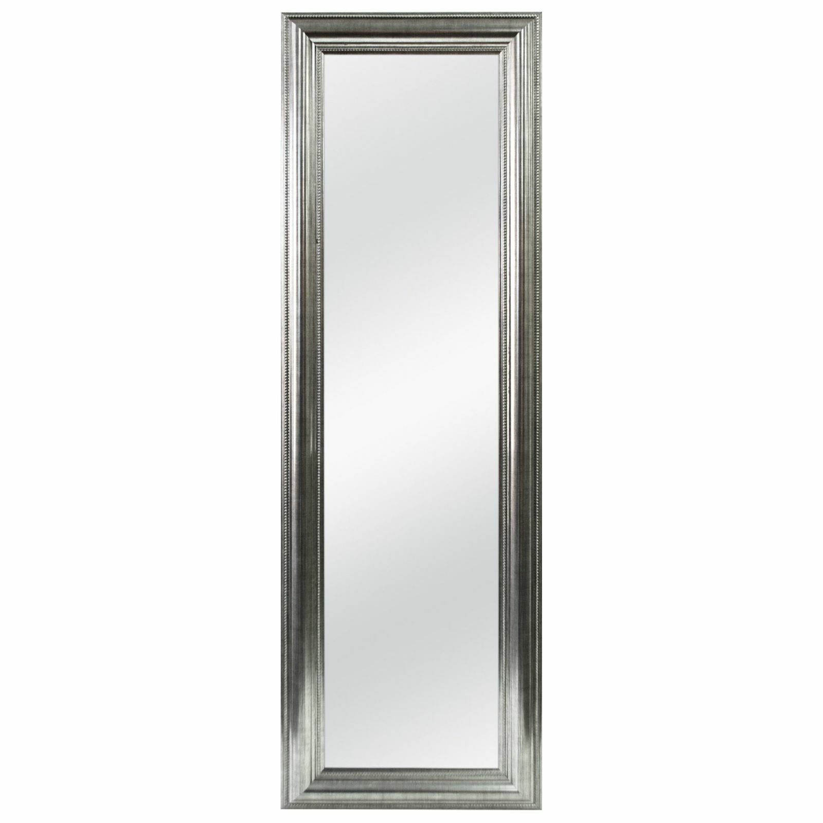 Over-the-Door Mirror Double Bead Full Length Silver Accent F