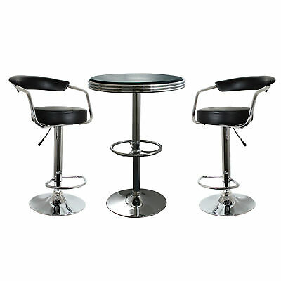 AmeriHome Retro Classic Soda Shop Bistro Set - 3 Piece Set