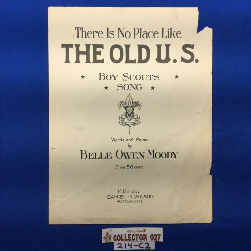 Boy Scout Sheet Music There Is no Place Like The Old U.S. Boy Scout Song