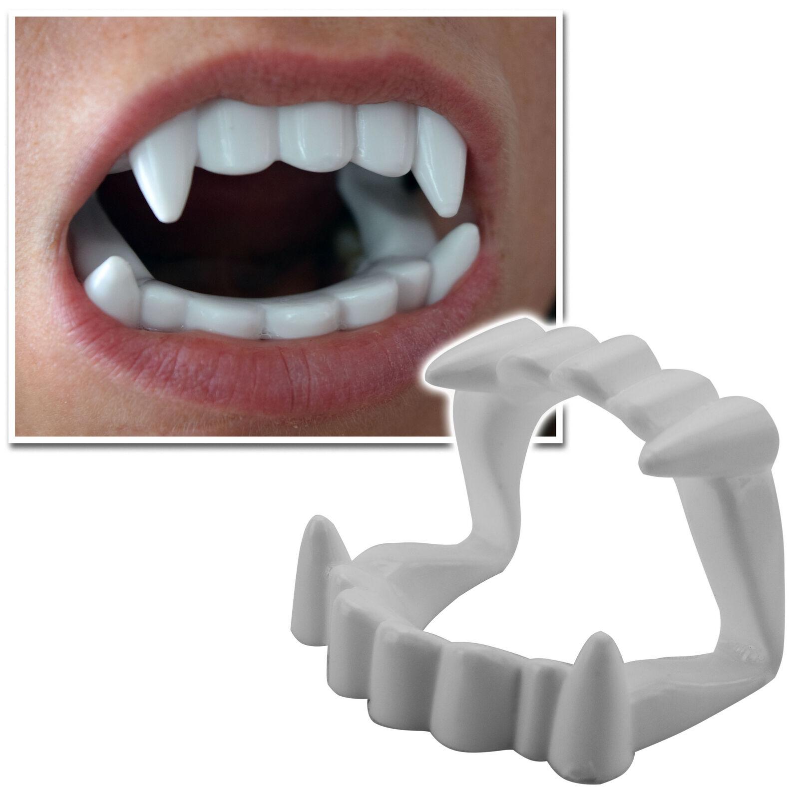 10x Gebiss Vampirzähne Zähne Dracula Halloween Fasching Kostüm Deko für Kinder