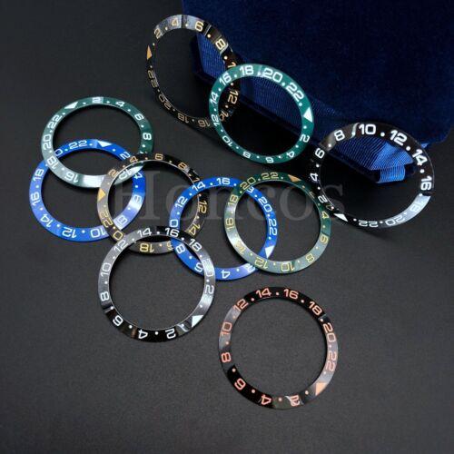 40MM Ceramic Black Blue Bezel insert GMT for SEIKO SKX007 (0020 CASE) Fits Seiko