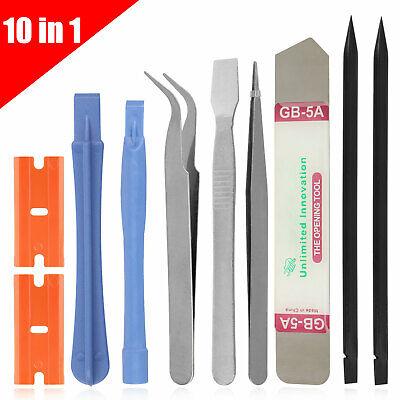 10 in 1 Cell Phone Repair Opening Pry Disassemble Tools Set Spudger Tweezer Kit Phone Tool Kit