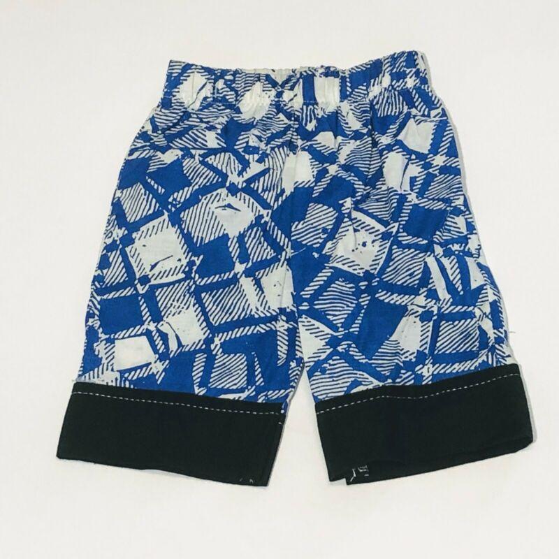 Vintage Blue And White Toddler Boys Elastic Waist Shorts - Size One - NOS