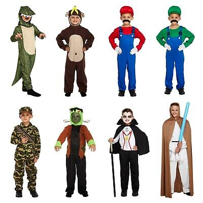 Boys World Book Day Fancy Dress Costume Book Character Outfits NEW - Book Character Costumes For Boys