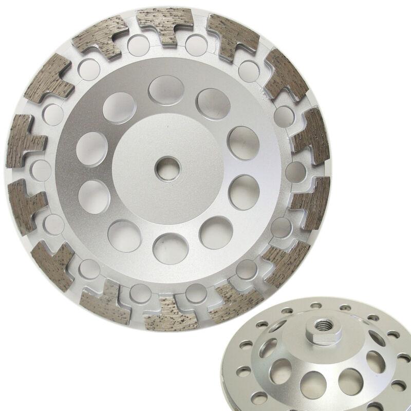 "7"" Premium Diamond Cup Wheel T-segment for Concrete Stone Grinding 5/8""-11 Arbor"