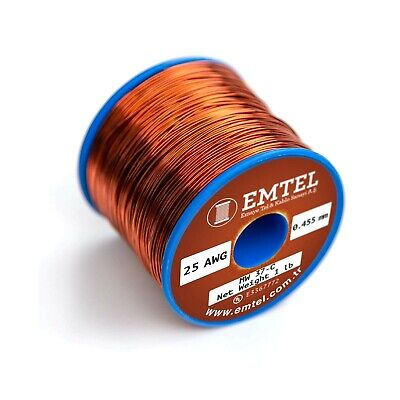 Emtel 25 Awg Enameled Copper Wire 25 Gauge Magnet Wire For Motor Transform...