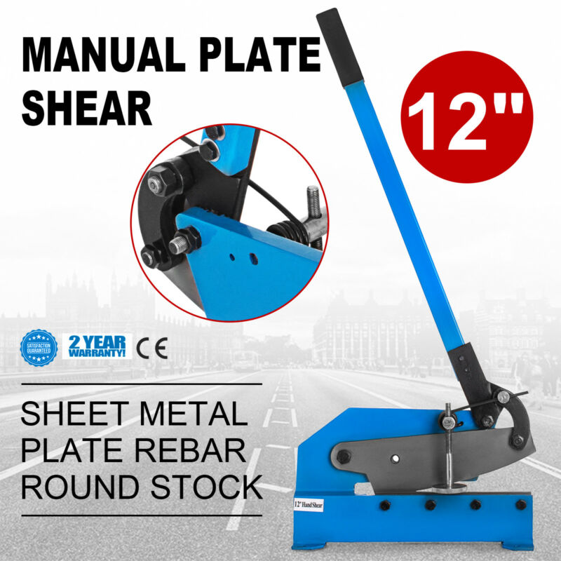 Hand Shear Sheet Metal Cutting Bench Mount 12""