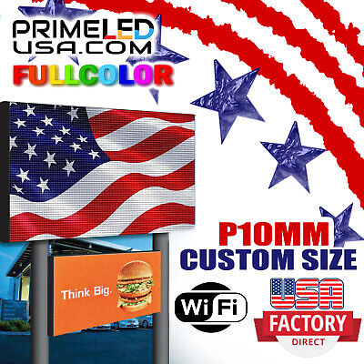 Double Sided Led Sign Full Color P10mm Outdoor 37.75 H X 63 L Wifi 3ft X 5ft