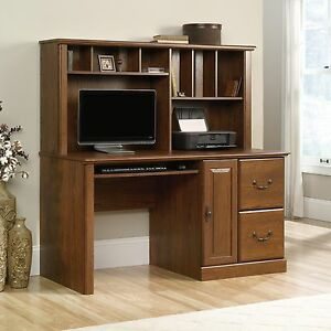 desk and oak en small carolina computer hills wood in with hutch ip sauder orchard