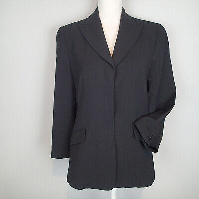 Armani Collezioni Womens Black Long Sleeve Blazer Size 12 jacket