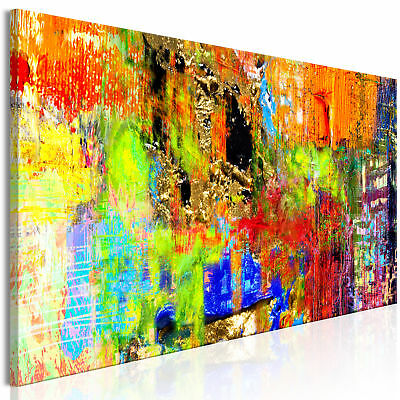 ABSTRAKTE KUNST BUNT MODERN Wandbilder xxl Bilder Vlies Leinwand a-A-0386-b-a
