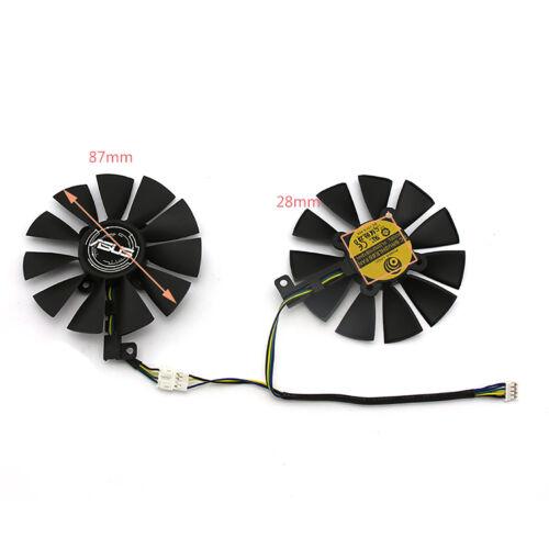 Für ASUS DUAL GeForce GTX1060 1070 Teile Grafikkarte 87MM Lüfter PLD09210S12HH