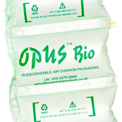 200 x High Quality PRE INFLATED BIODEGRADABLE AIR PILLOWS 200x100mm