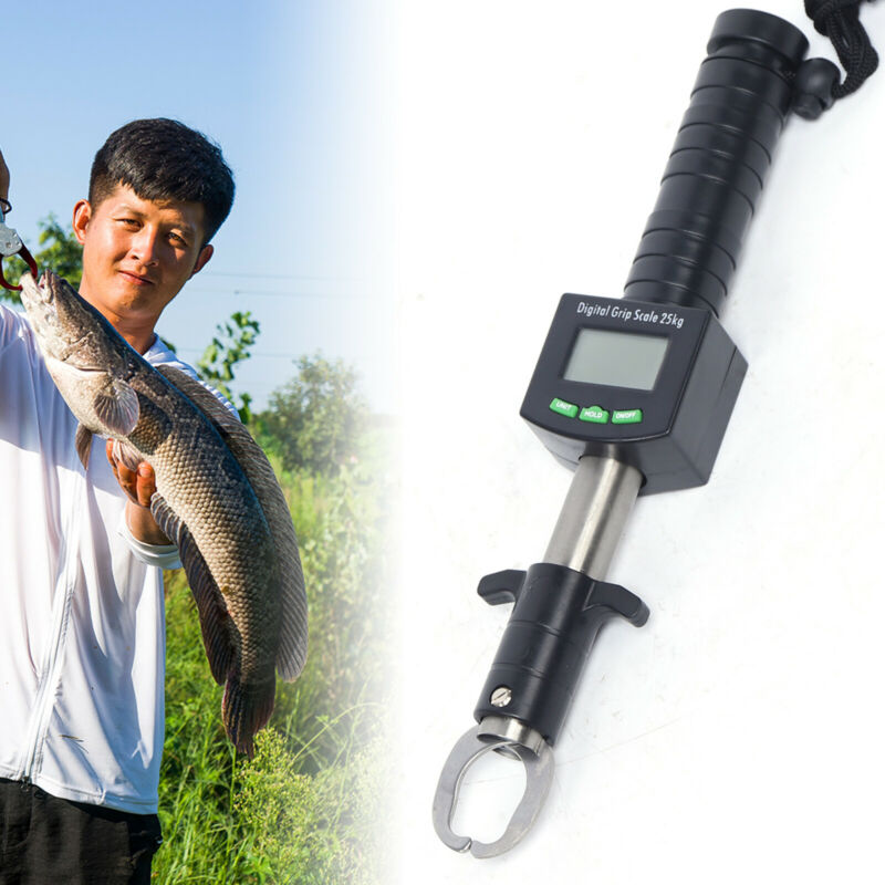 Digital Fish Scale Grip Fish Lip Grabber Electronic Weight Scale Stainless Steel