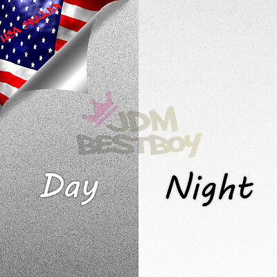 4x8 Sample Reflective White Vinyl Wrap Sticker Decal Graphic Sign Adhesive