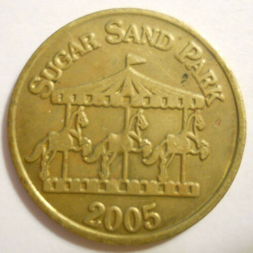 Sugar Sand Park Carousel (Boca Raton, Florida) transit token - FL025