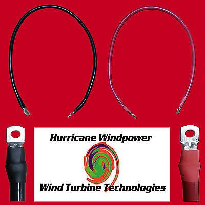 """Set of Battery Inverter Cables 9"""" Red & Black 4/0 AWG Gauge Solar RV Car Boat"""