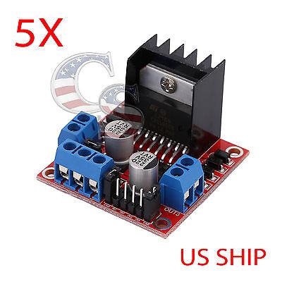 5pcs Dual H Bridge Dc Stepper Motor Driver Controller Board Module Arduino L298n