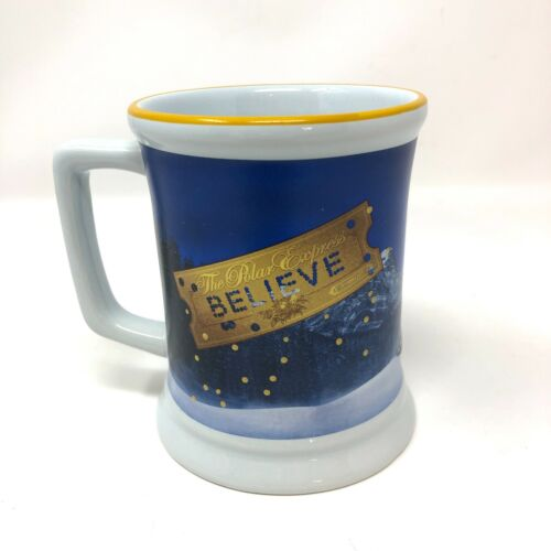 Polar Express Train Christmas Holiday Raised Coffee Mug Cup