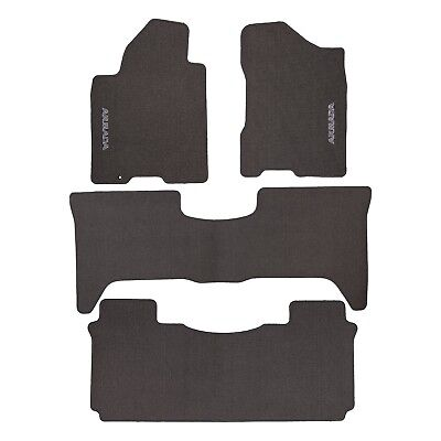 2005-2007 Nissan Armada Gray Carpeted Carpet Front & Rear Floor Mats Set OEM NEW