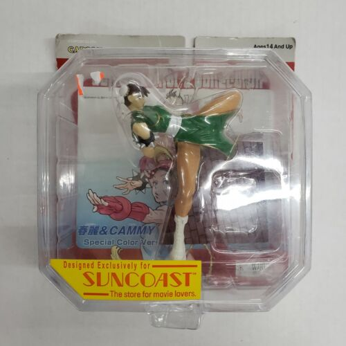 Capcom Street Fighter Chun-Li Toycom Collection Green Figure Suncoast Exclusive
