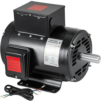 7.5 Hp Air Compressor Electric Motor 184t Frame 208-230v 3450 Rpm Single Phase