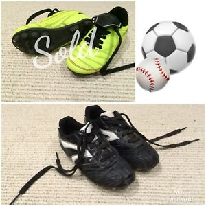 Soccer/baseball cleats  | size 12 and size 1