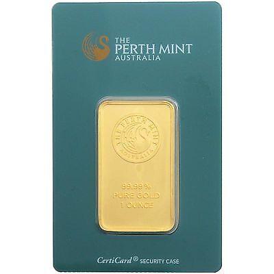 Australian Perth Mint 1 Ounce Gold Bar 1 oz