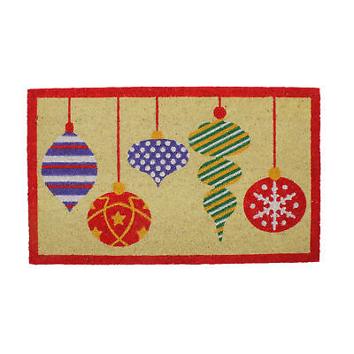 Northlight Brightly Colored Mixed Christmas Ornaments Outdoor Mat 30 x 18