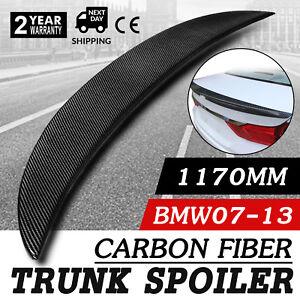 Carbon Fiber High Kick Trunk Spoiler BMW E92 Coupe 328i 335i M3 Wing Lip CF.