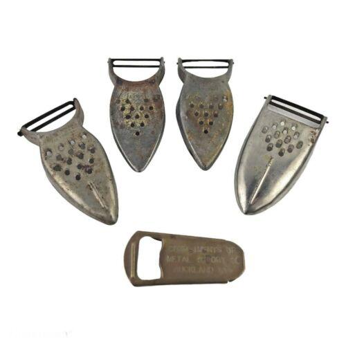 Lot 4 Vintage Metal Vegetable Peeler Grater HEUCK De Vault EZ & Bottle Opener
