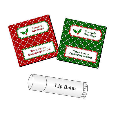 Lip Balm Labels - 20 Personalized Christmas Lip Balm Party Favor Stickers Labels Stocking Stuffers