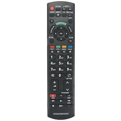 Ersatz Fernseher TV Fernbedienung Passend für Panasonic N2QAYB000487 N2QAYB00049