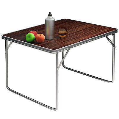 Mesa auxiliar Plegable de aluminio para camping jardín balcón playa fiestas
