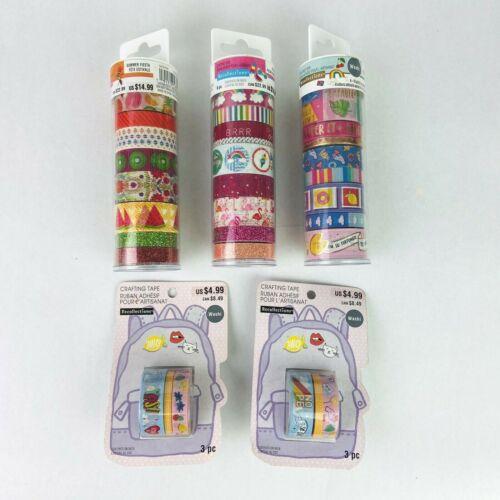 Recollections Washi Tape Tubes Rolls Glitter Flamingo Rainbow Yass Pink Blue Lot